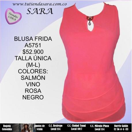 BLUSA M/SIZA FRIDA